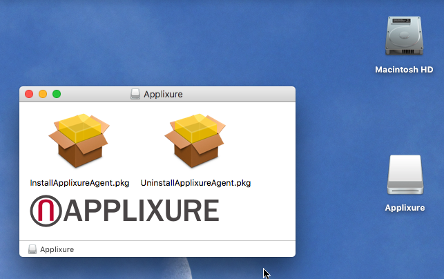Technical instructions for installing Applixure Agents on
